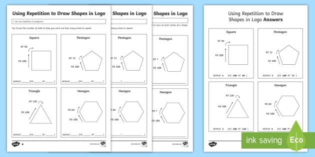 using repetition to draw shapes in logo differentiated worksheet worksheet. Black Bedroom Furniture Sets. Home Design Ideas