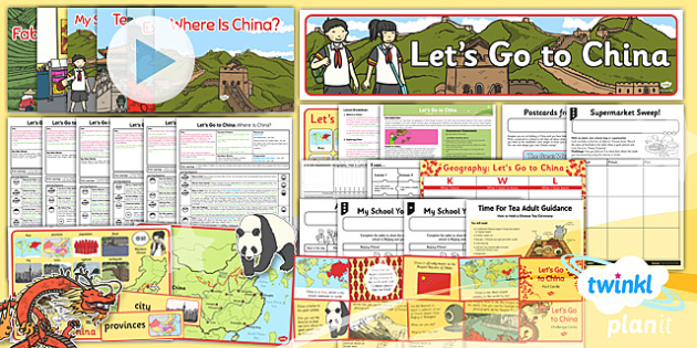 Geography: Let's Go to China Year 2 Unit Pack