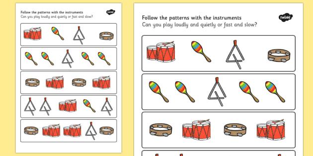 Music Pattern Sheet - music, patterns, musical, music lessons