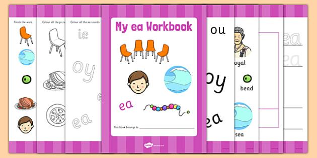 Phase 5 ea Grapheme Workbook - phase five, graphemes, literacy