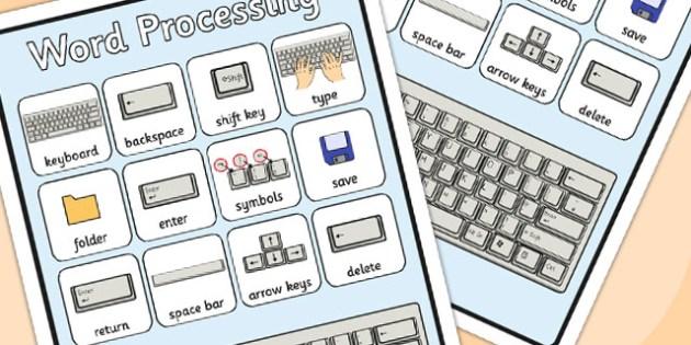 Word Processing Skills Word Grid - Word, Skills, Word, Grid