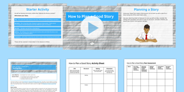 How to Plan a Good Story Lesson Pack - how, plan, good story, lesson pack, lesson, pack