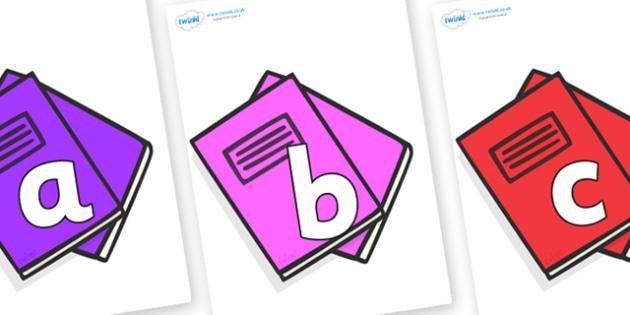 Phoneme Set on Exercise Books - Phoneme set, phonemes, phoneme, Letters and Sounds, DfES, display, Phase 1, Phase 2, Phase 3, Phase 5, Foundation, Literacy