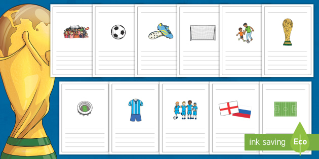 Football World Cup Writing Frames - football, world cup, frame