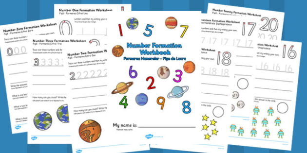 Number Formation Workbook Space Romanian Translation - romanian, overwriting