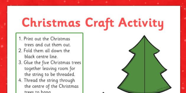Twinkl Tree Decoration Paper Craft