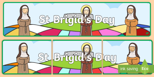 St Brigids Day Display Banner - saint brigid, saint brigid's day, st brigid, display, catholic, cloak, brigid, ireland, irish