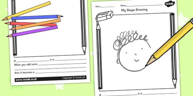 Shape Drawing Writing Frame - shapes, draw, shape drawing, write