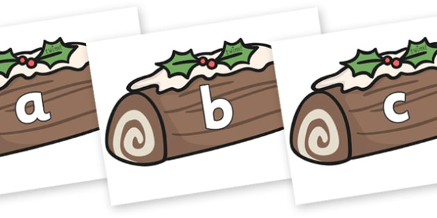 Phase 2 Phonemes on Christmas Logs - Phonemes, phoneme, Phase 2, Phase two, Foundation, Literacy, Letters and Sounds, DfES, display