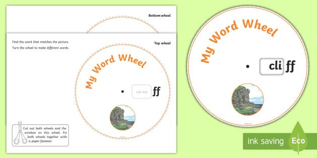 Phonics Digraph Word Wheel (ff) - Phonics, Digraph, word wheel, ff, DfES Letters and Sounds, Letters and Sounds