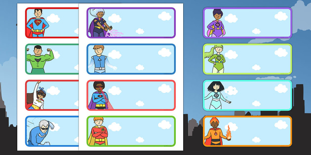 Editable Drawer - Peg - Name Labels (Superhero) - Classroom Label Templates, Resource Labels, Name Labels, Editable Labels, Drawer Labels, Coat Peg Labels, Peg Label, KS1 Labels, Foundation Labels, Foundation Stage Labels, Teaching Labels
