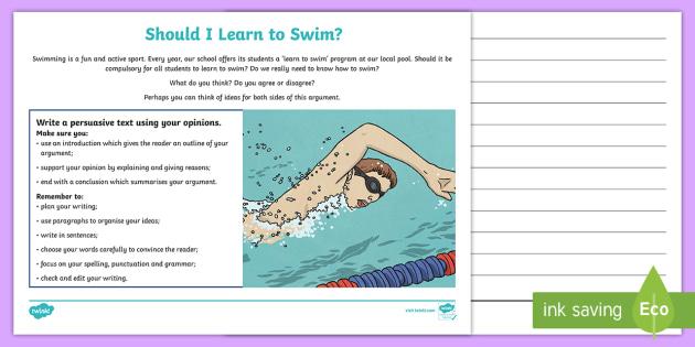 NAPLAN Style English Example Tests - Set 2 Persuasive Writing