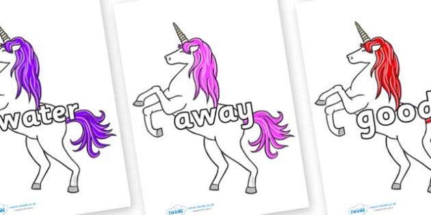 Next 200 Common Words on Unicorn - Next 200 Common Words on  - DfES Letters and Sounds, Letters and Sounds, Letters and sounds words, Common words, 200 common words