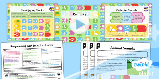 Computing: Programming with ScratchJr: Sounds Year 1 Lesson Pack 5