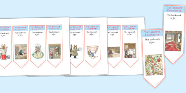 The Tailor of Gloucester Editable Bookmarks - tailor of gloucester
