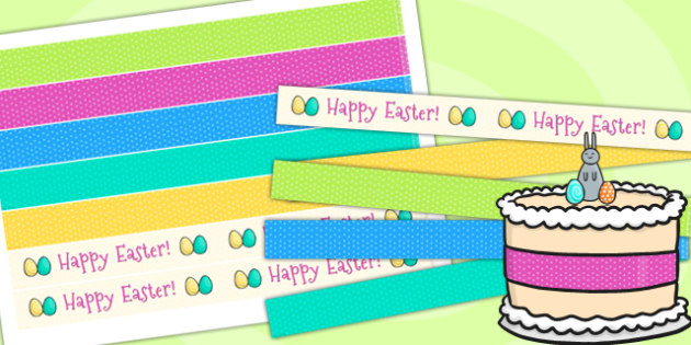 Easter Party Cake Ribbon - easter, party, parties, decoration