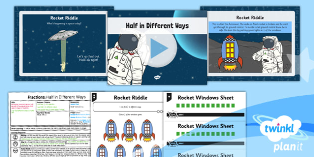 PlanIt Maths Y1 Fractions Lesson Pack Halves (2)