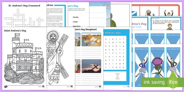 KS2 Saint Andrew's Day  Activity Pack