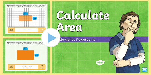 calculate area interactive powerpoint animations