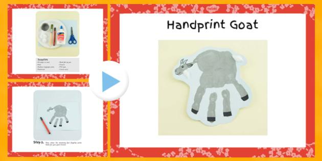Handprint Goat Craft Instructions PowerPoint - craft, powerpoint, goat, hand, instructions