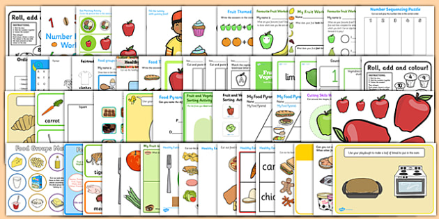 Food Activity Pack - activities, classroom activities, games