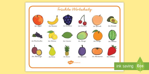 Früchte Wortschatz - Früchte Wortschatz, Früchte, Wortschatz
