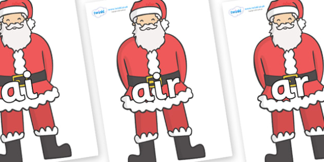 Phase 3 Phonemes on Father Christmas - Phonemes, phoneme, Phase 3, Phase three, Foundation, Literacy, Letters and Sounds, DfES, display