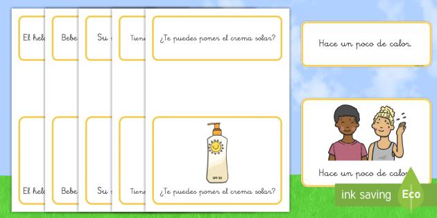 Tarjetas De Emparejar Frases Simples Verano Lectura