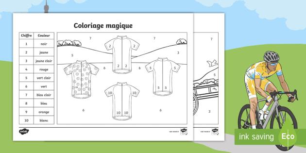 New Coloriage Magique Le Tour De France Nombres Chiffres