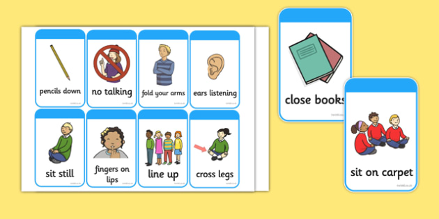 Good Behaviour Commands Flash Cards - good behaviour, commands, flash cards