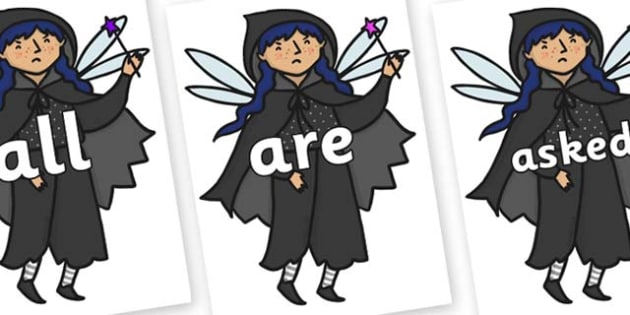 Tricky Words on Evil Fairy - Tricky words, DfES Letters and Sounds, Letters and sounds, display, words