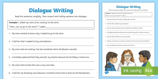 how to write a dialogue ks2 science