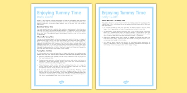Guide to Enjoying Tummy Time with Your Baby - Baby, play, tummy time, development.