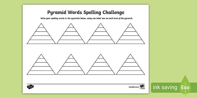 Pyramid Spelling Worksheet Teacher Made