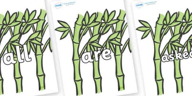 Tricky Words on Bamboo - Tricky words, DfES Letters and Sounds, Letters and sounds, display, words