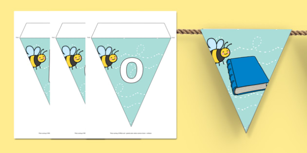 Bee Themed Book Corner Display Bunting