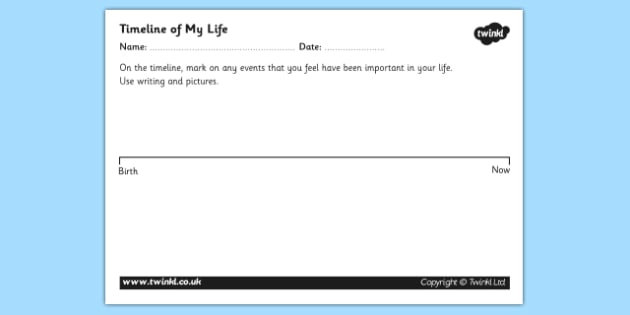 Life Timeline Template from images.twinkl.co.uk