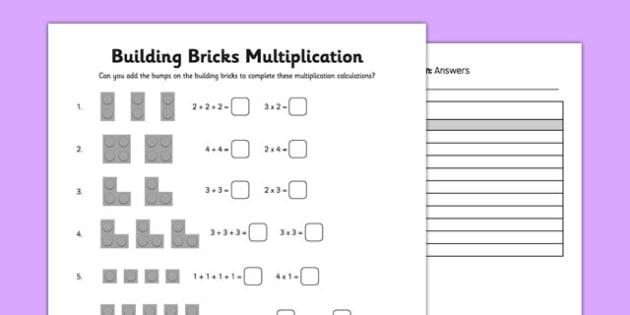 Building Bricks Multiplication - building bricks, multiplication, building, bricks