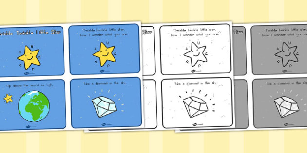 Twinkle Twinkle Little Star Sequencing - Twinkle, Little, Rhyme