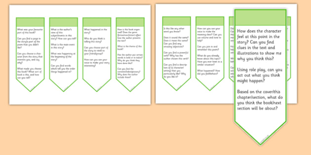 Guided Reading Curriculum Questions Bookmarks Year 2 - guided reading, curriculum, questions, bookmarks, year 2