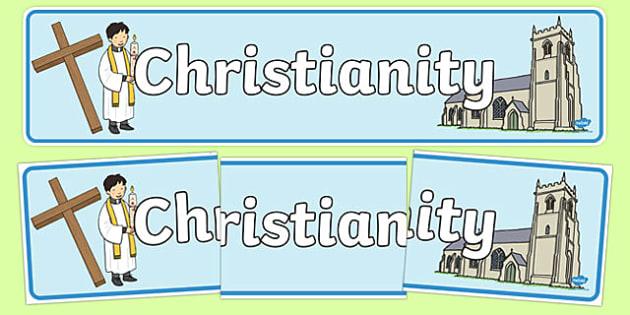 Christian Church Display Banner - Church, Christian, God Jesus, display banner, sign, posters, minister, Vicar, bible, bells, organ, Sunday, cross