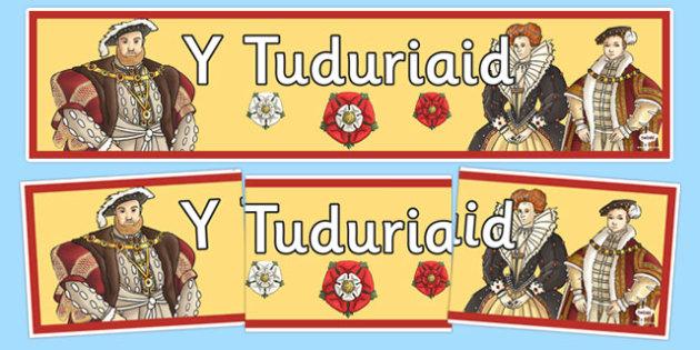 Baner 'Y Tuduriaid' - Cyfnod Allweddol 2, Baner, The Tudors, Y Tuduriaid