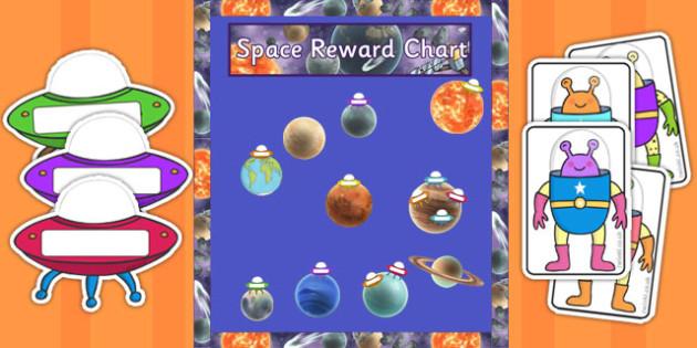 Year 5 Space Themed Reward Display Pack - year 5, space, reward