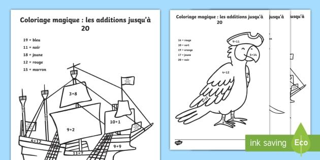 Coloriage Magique Les Pirates Mathématiques Calcul