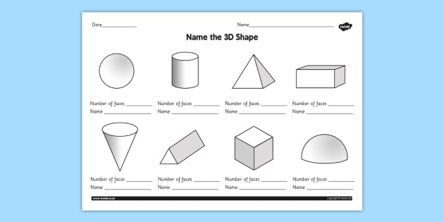 name the 3d shape grade 3 worksheet worksheet 3d shape grade 3. Black Bedroom Furniture Sets. Home Design Ideas