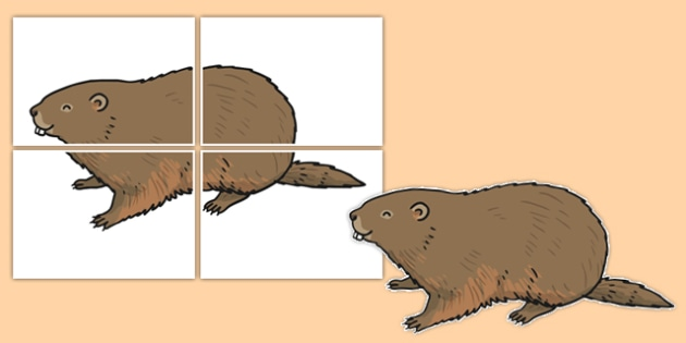 Groundhog Large Display Cut Out - groundhog day, groundhog, tradition, celebration, display, cut out