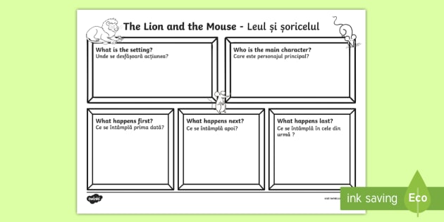 The Lion and the Mouse Story Review Writing Template