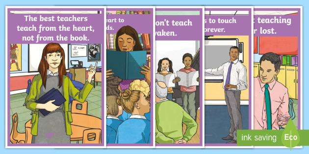NEW * World Teachers' Day Display Posters - Class display