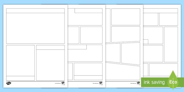 comic strip template twinkl  Blank Comic Strip Templates (teacher made)