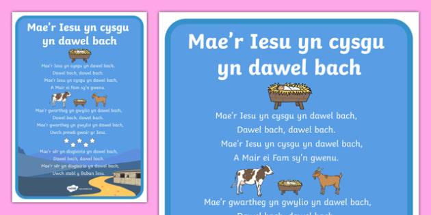Jesus is Sleeping Quietly Song Lyrics-Welsh